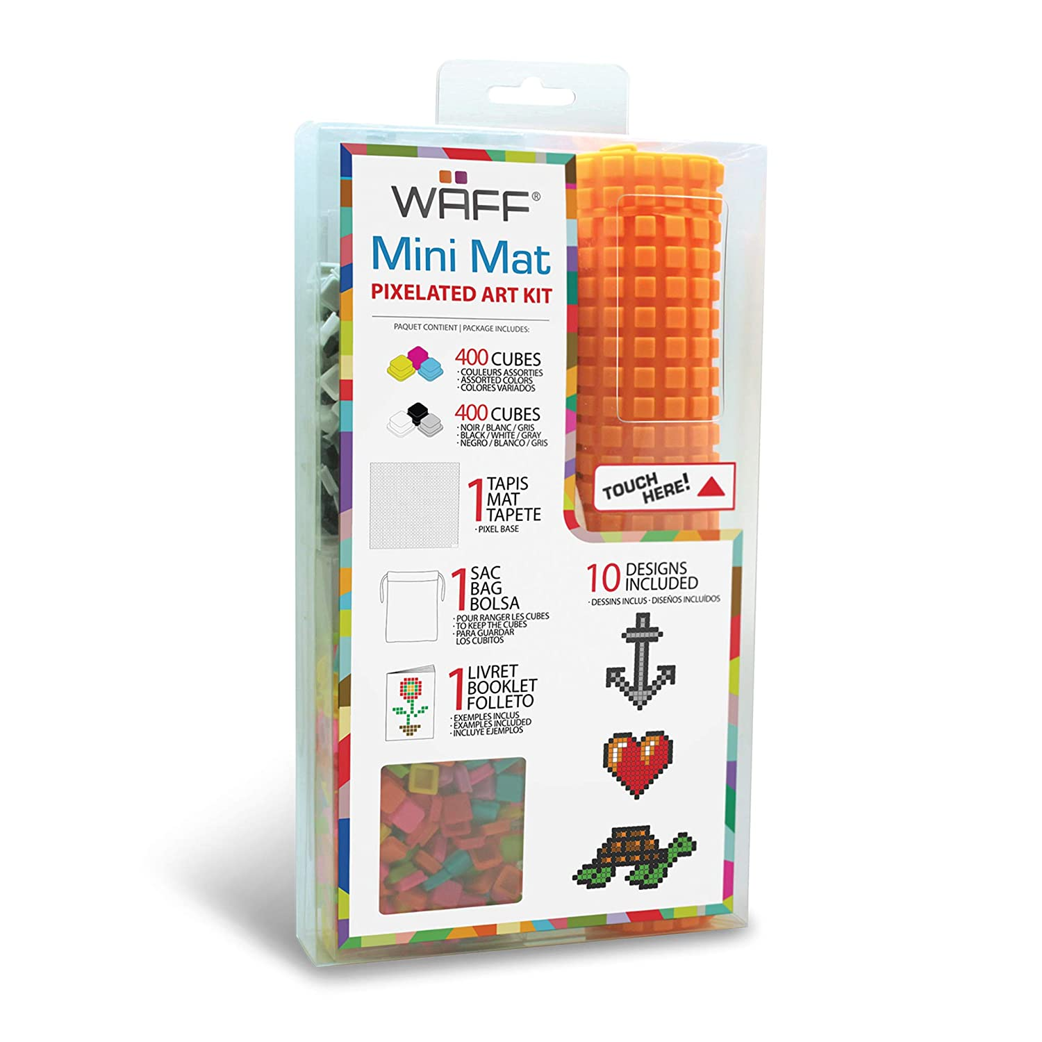 Amazon Com Waff Mini Mat Set With 800 Cubes Purple Toys Games