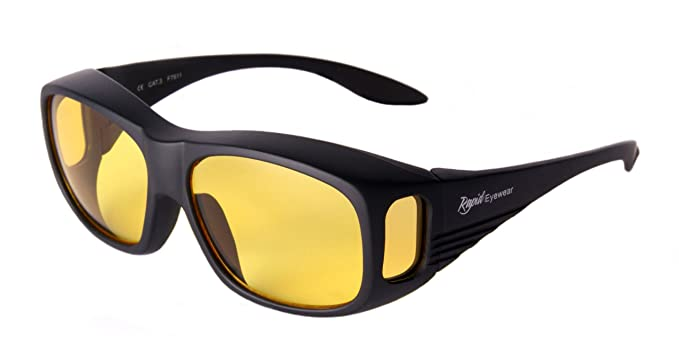 316c7b647081e1 Rapid Eyewear SUR-LUNETTES POUR CONDUITE DE NUIT, noires, pour hommes et  femmes