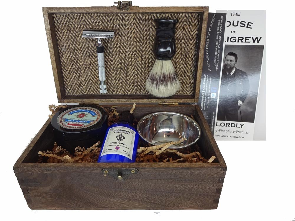 Vintage Shave Kit Groomsmen Gift Vintage Rustic Wedding (The Hunt) shave kit shaving kit for men unique mens gift shave unique groomsmen gifts