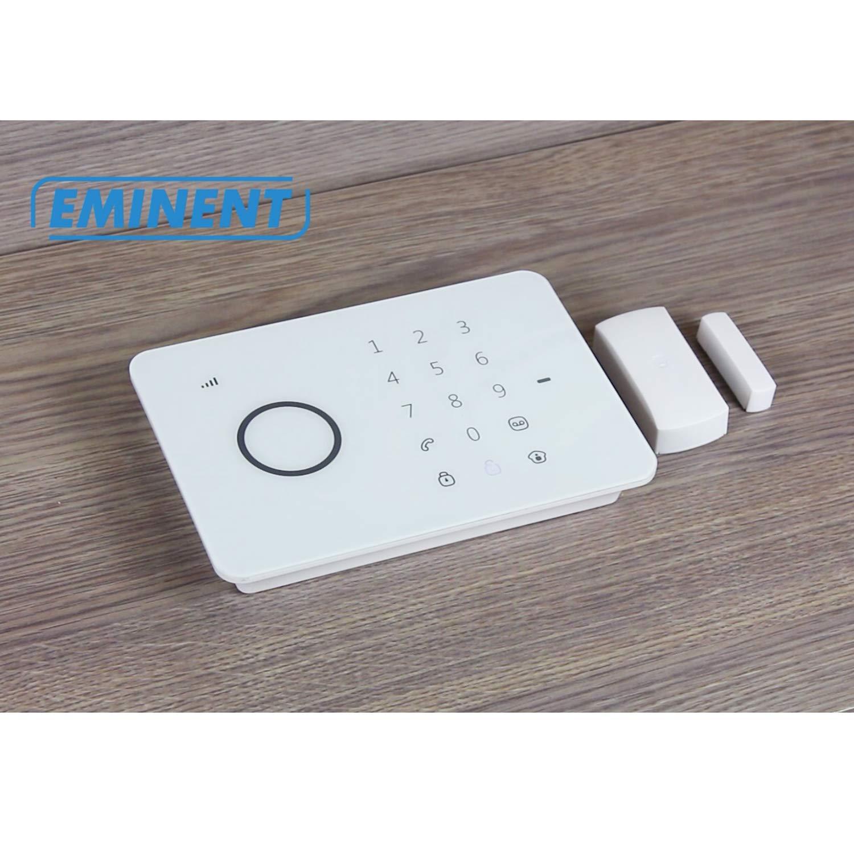 Eminent e- Alarma inalámbrica, electrónicos, Negro, Color Blanco