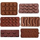 Buytra 6 Pack BPA Free Food Grade Silicone Mold for Candy,Chocolate,Ice Cube Tray,Soap,Cake,Baking,Jello and More Including Owl,Dinosaur,Heart,Lollipop,Button,Spoon