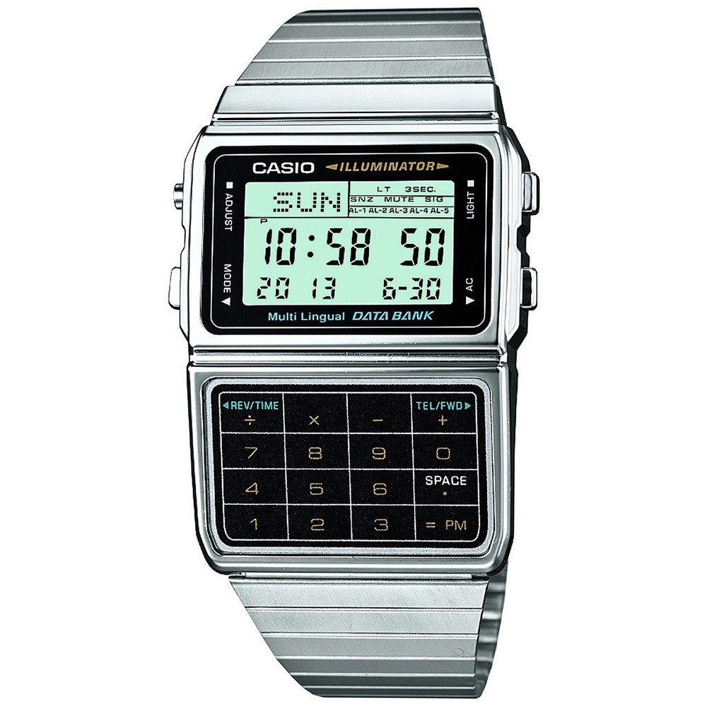 Casio DBC-611-1CR Data Bank Classic Series Quality Watches - Silver by Casio