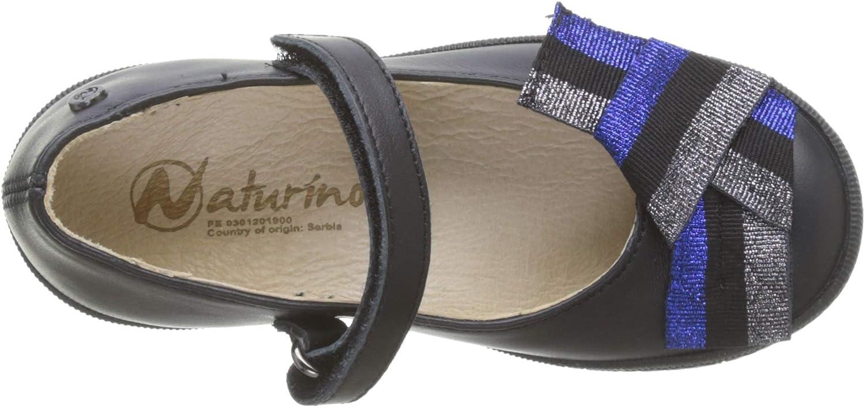 Naturino Carrara, Ballerine con Cinturino alla Caviglia Bambina Nero Nero 0a01