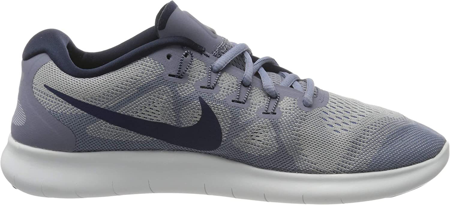 Nike Men's Free Rn 2017 Running Shoes Blue Wolf Grey Binary Blue Dark Sky Blue