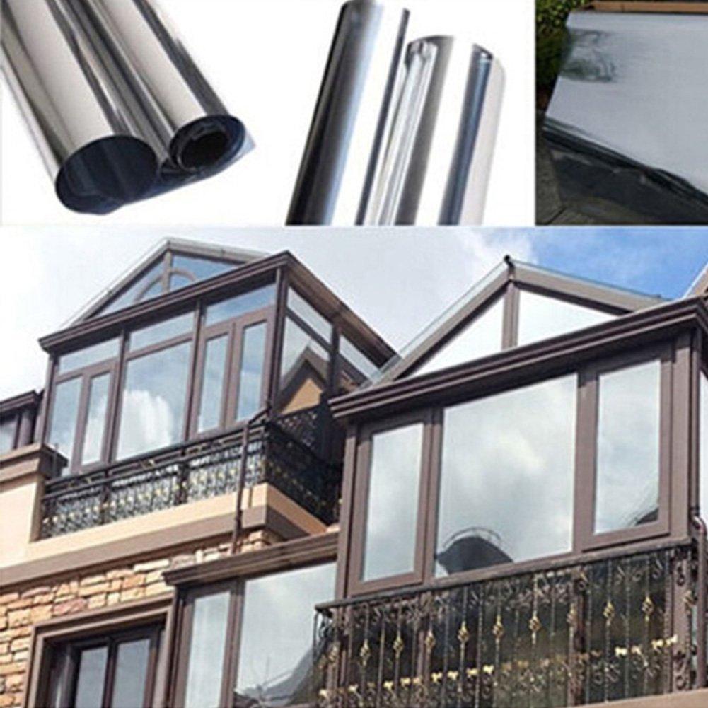 Reflective Window Film One Way Mirror Film For Windows Privacy Protection/UV-Proof/Heat Control/Self Adhesive (1M/2M40CM)(1M40CM) osierr6