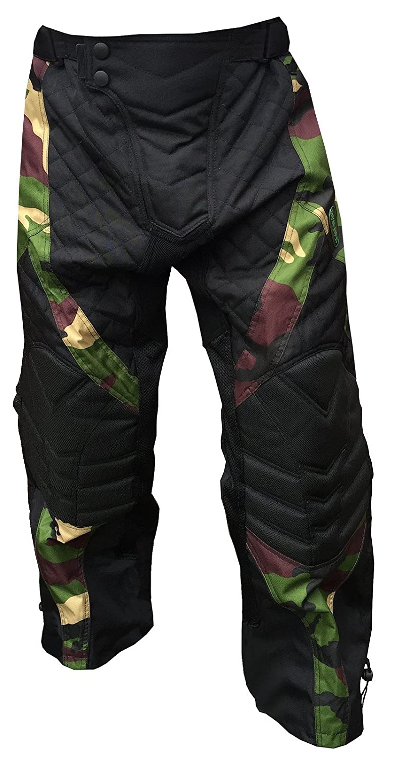 *SALE* CKSN Deniable-Ops Paintball Airsoft Hunting Fishing Pants Woodland Camo Camouflage Trousers Tactical Military Paintballing Shooting Clay Metal Detecting - Padded Knees Fully Lined - Lumber Padding and Insulation CKSN Ltd