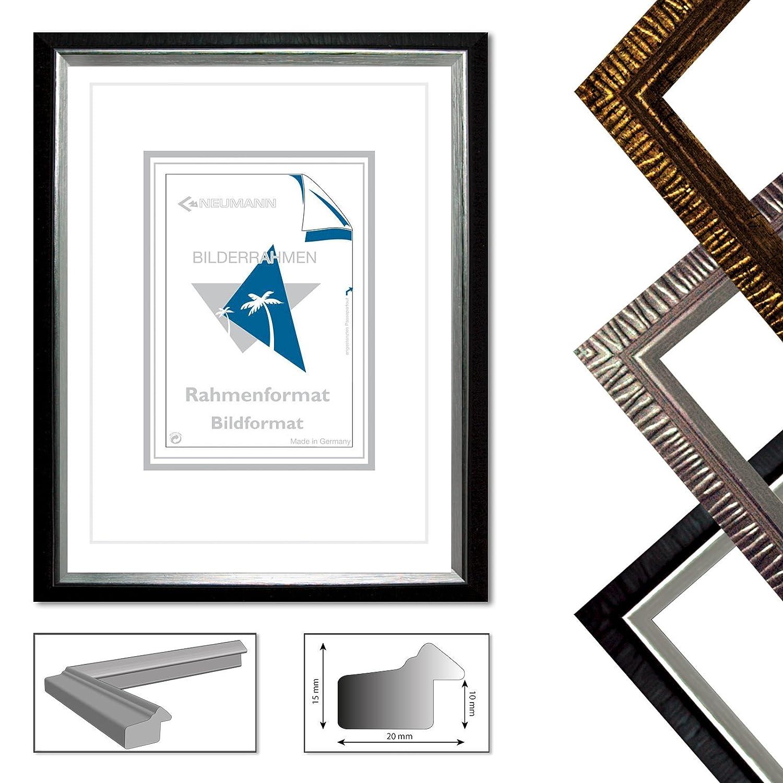 Amazon.com - Neumann Bilderrahmen Plastic Frame Art Elegance, Size 20x30 cm, Gold matt -