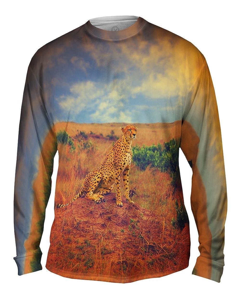 TShirt Cheetah Princess Mens Long Sleeve Yizzam