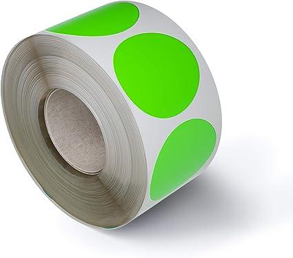 Royal Green Bollini Adesivi Rotondi 25 mm In Rotolo Colore Rosa Confezione da 600 Pezzi