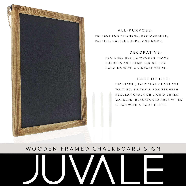 Amazon.com : Wooden Framed Chalkboard Sign - Decorative Hanging ...