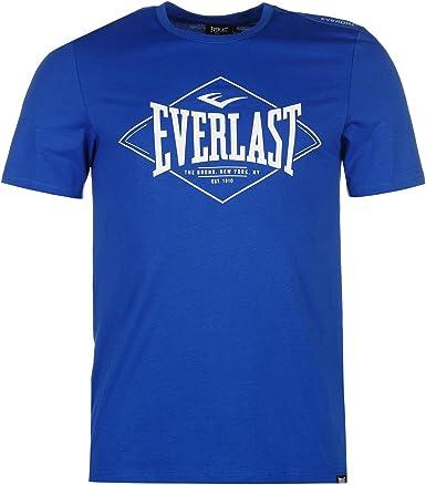 Everlast Hombre Logo Camiseta Manga Corta Azul Diamante L: Amazon ...