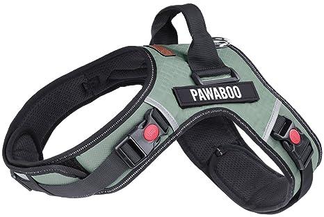 Pawaboo Arnés de Perro Ajustable Durable Resistente Acolchado ...