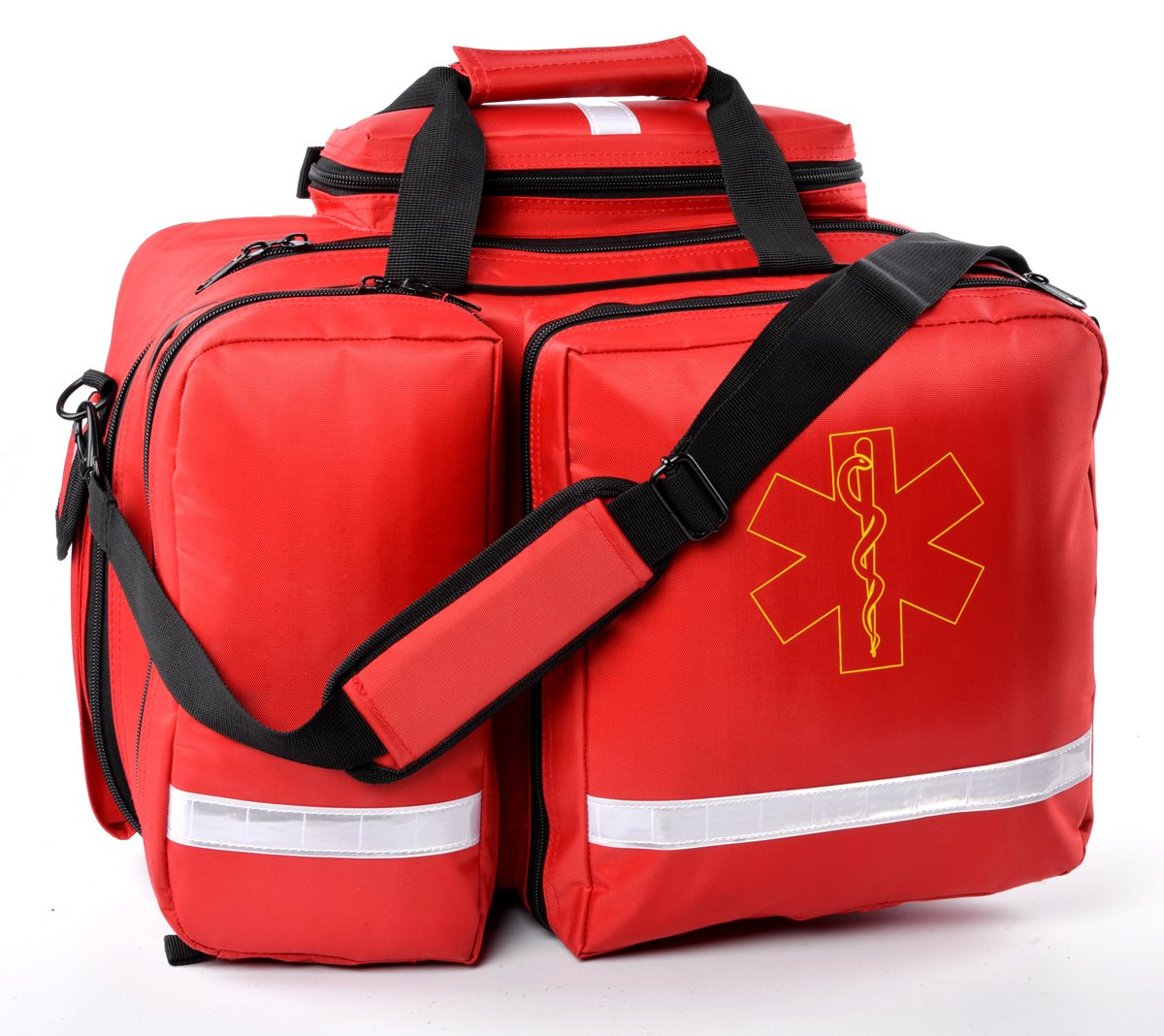 Aurelius EMT Bag Emergency Response First Aid Bag,Medical Supplies Not Included (Red)