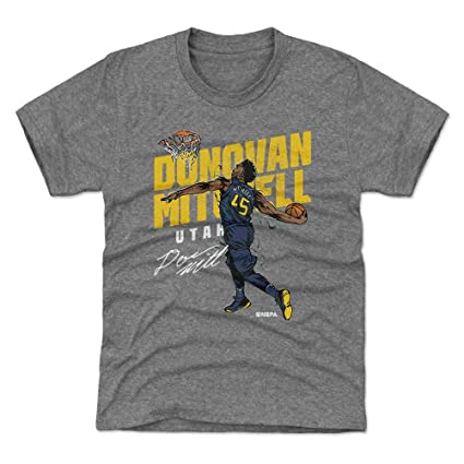 028fa0b9431 Amazon.com   500 LEVEL Donovan Mitchell Utah Basketball Kids Shirt ...