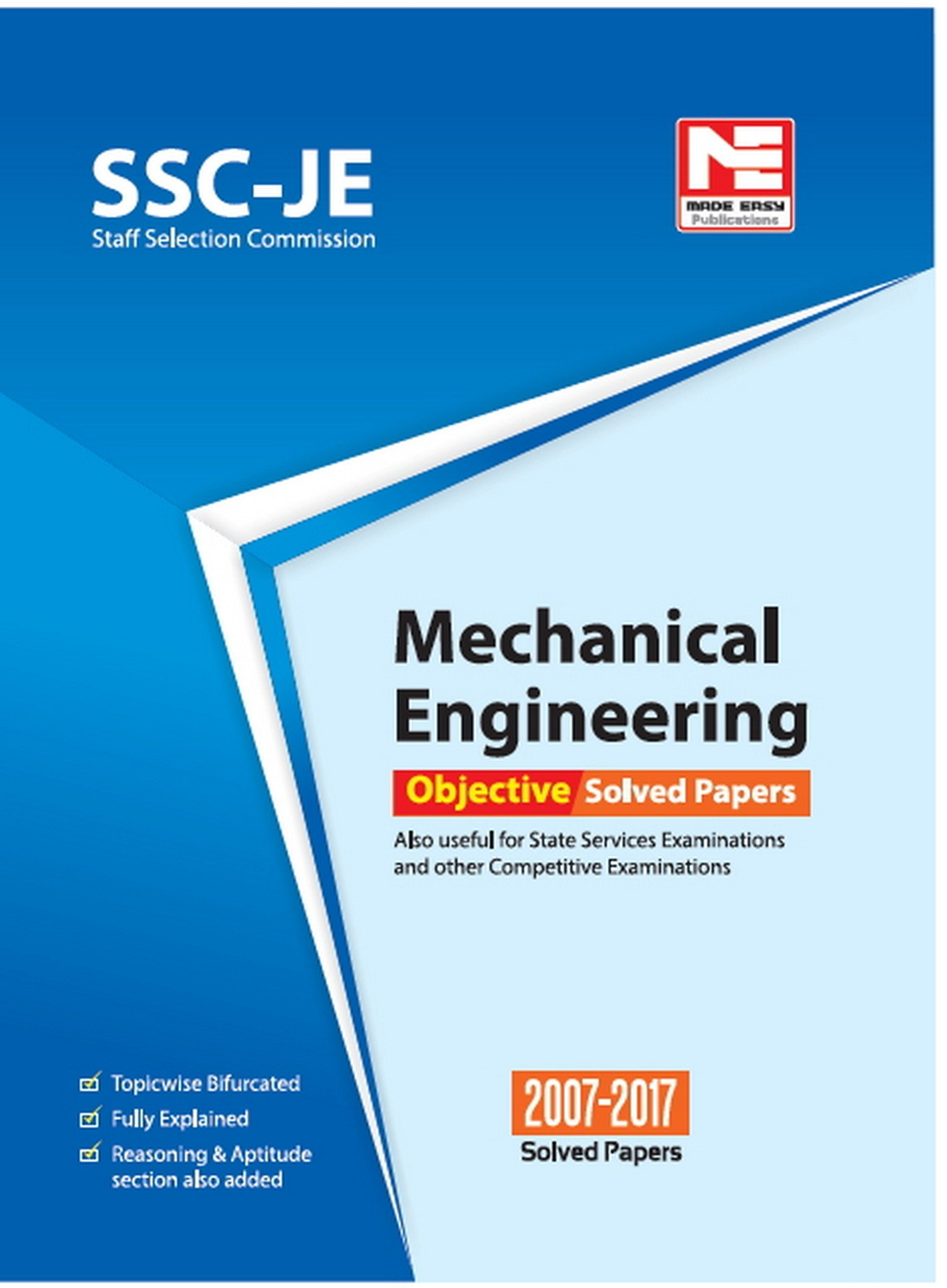 Buy SSC JE: Mechanical Engineering - Objective Solved Papers