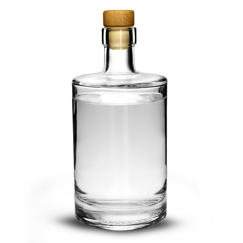 Galileo Flint Bouteille en verre avec bouchon en liège Bocal à 500ml–Bouteille de conservation en verre pour Sloe Gin Home Made drinkstuff