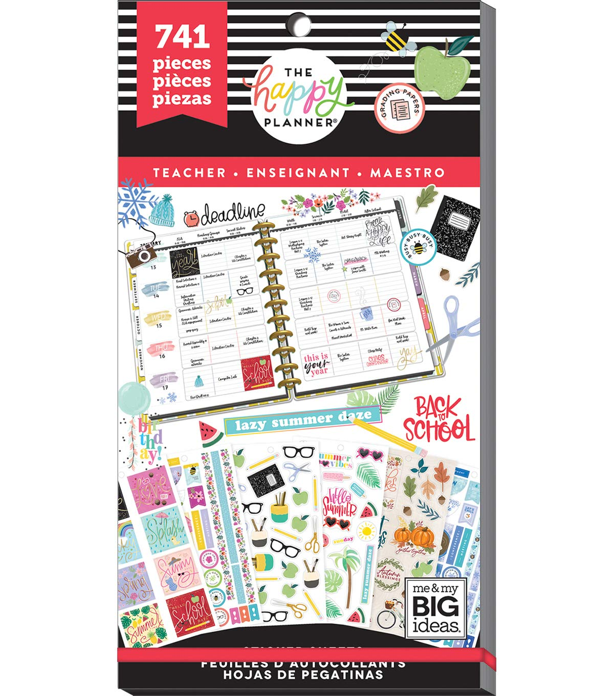 Happy Planner Sticker Value Pack-one Happy Year (teacher) by Happy Planner