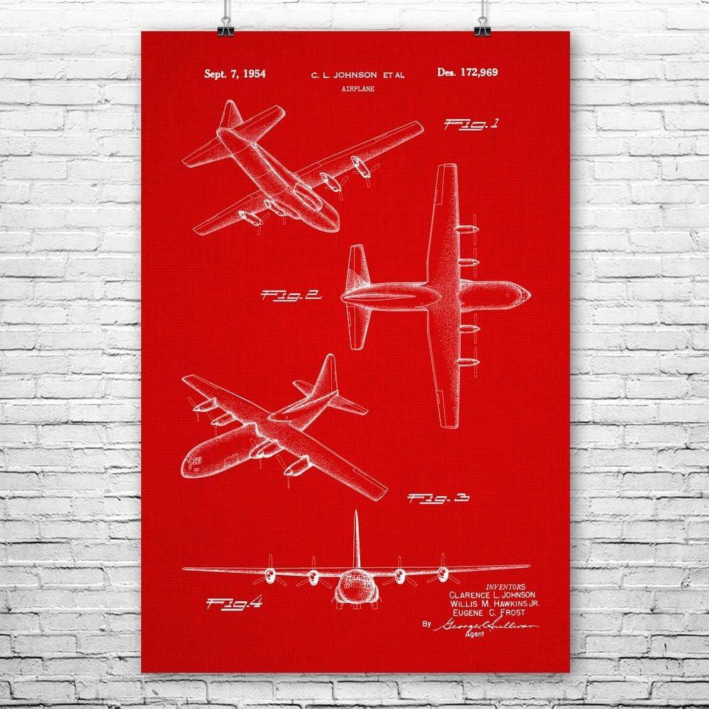C-130 Hercules Poster Print Airplane Blueprint Pilot Gifts US Air Force