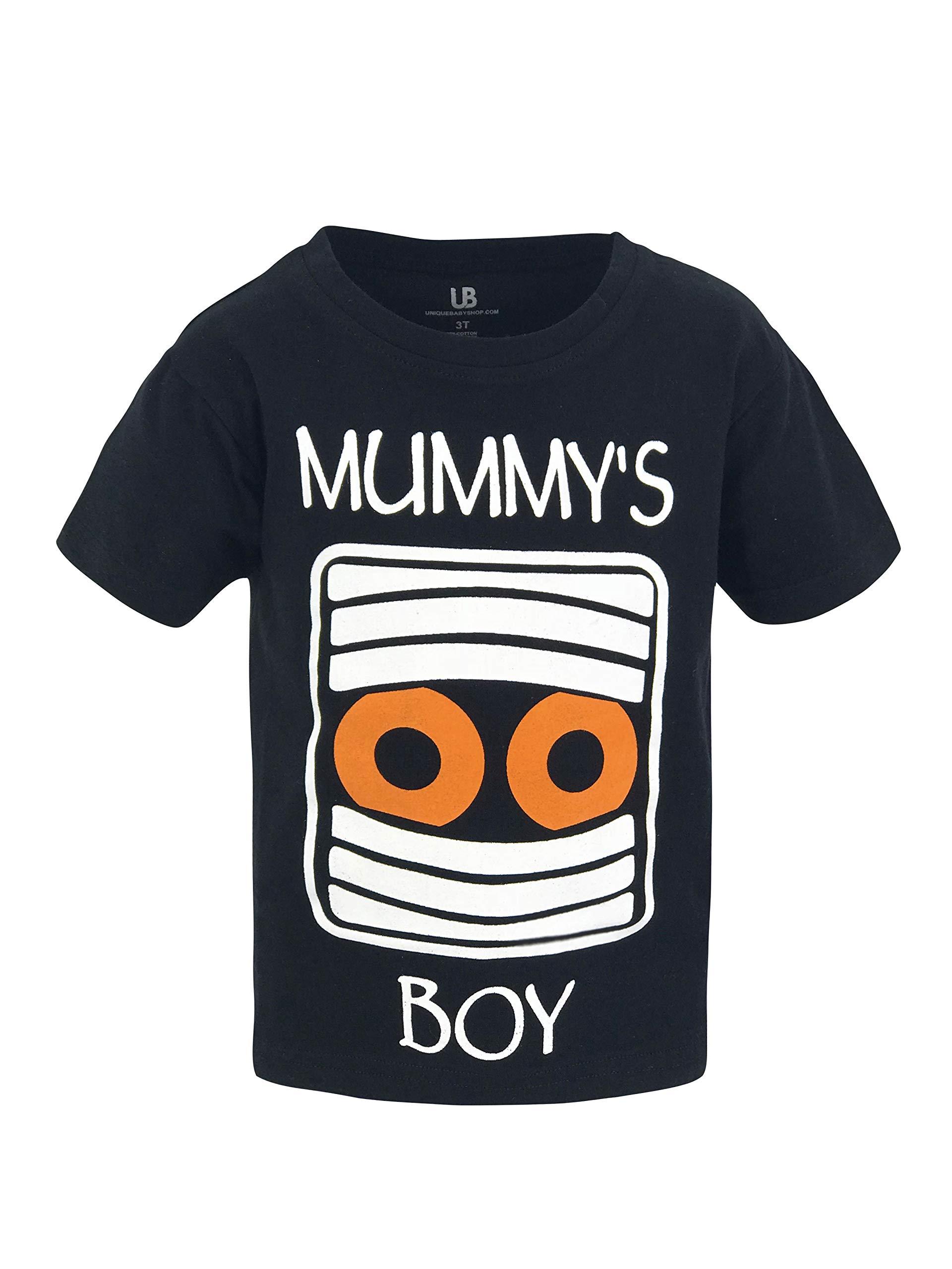 Unique Baby Boys Mummy's Boy Halloween Short Sleeved T Shirt (6)
