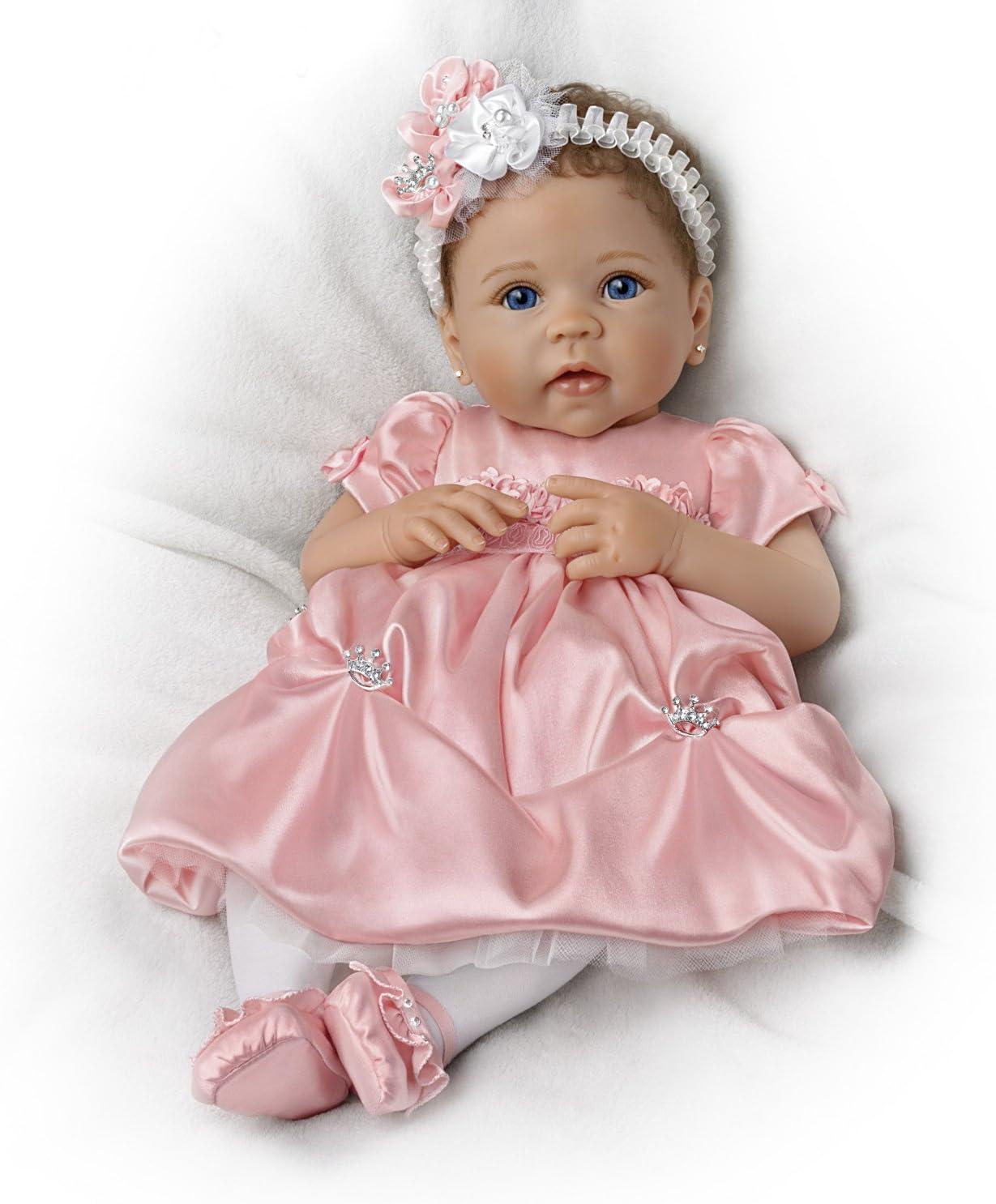 Swaddled So Sweetly  Lifelike 17/'/'  Baby Doll w//Blanket by Ashton Drake