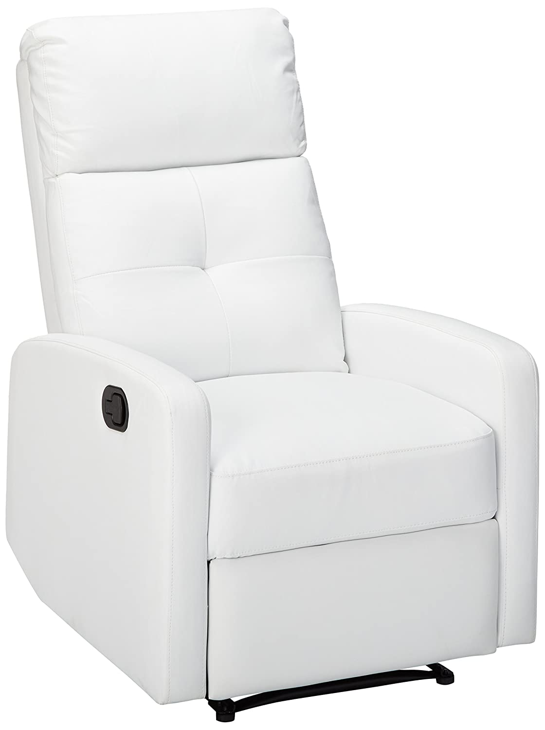 Amazon com great deal furniture teyana white leather recliner club chair kitchen dining