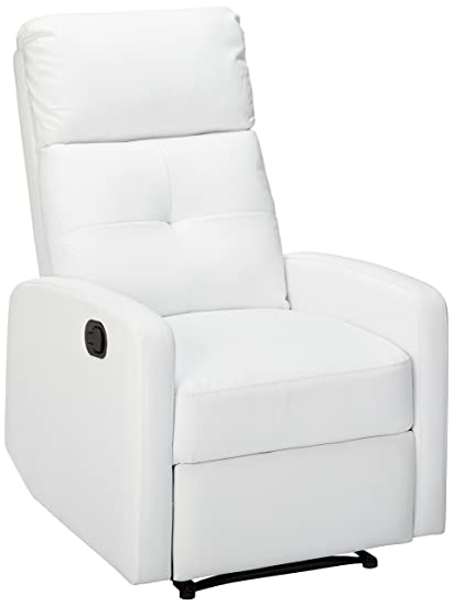 Great Deal Furniture Teyana White Leather Recliner Club Chair  sc 1 st  Amazon.com & Amazon.com: Great Deal Furniture Teyana White Leather Recliner Club ...