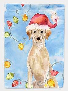 Caroline's Treasures CK2507GF Christmas Lights Yellow Labrador Retriever Flag Garden Size, Small, Multicolor