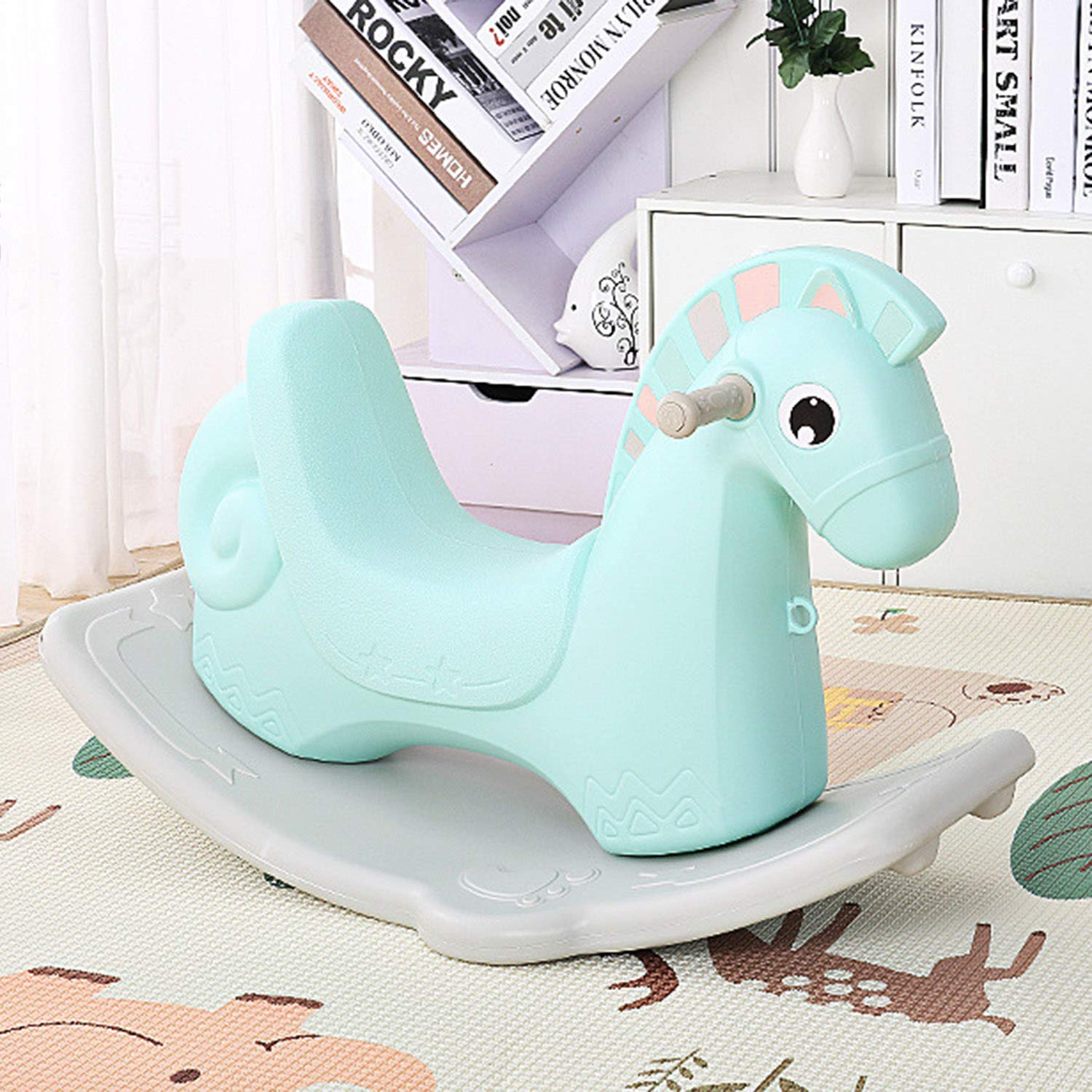 AIBAB Baby Rocking Horse Tumbler Baby Comfort Chair Thick Plastic Multifunction Nursery Boy Girl Toy Gift by AIBAB (Image #2)