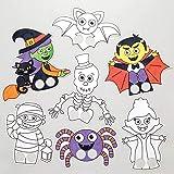 Baker Ross Marionette da Dito di Halloween da colorare. Ottimo per attività per Bambini (Confezione da 24)