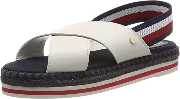 Tommy Hilfiger Colorful Rope Flat Sandal, Infradito Donna