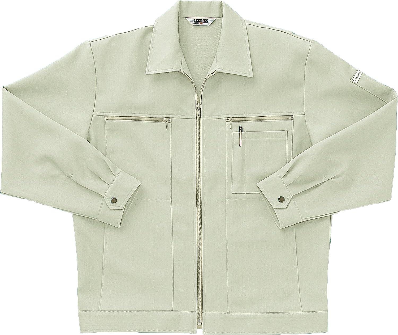 [サンエス]SUN-S【長袖ジャンパー】高級感ある杢調の二重織り裏綿素材《099-AG4010》 B00PUKE2ZO XL 2 アイボリー