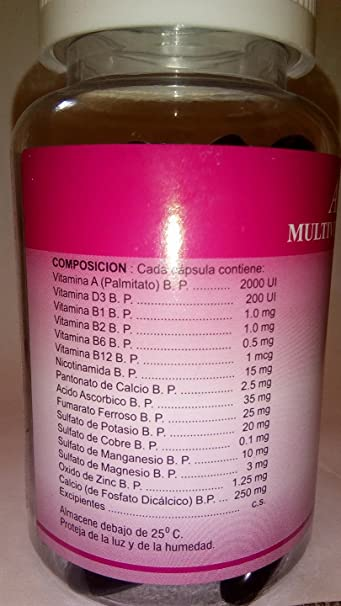 Amazon.com: Adall Plus Multivitaminas Capsulas Con Minerales, VIGOR Y VITALIDAD: Health & Personal Care