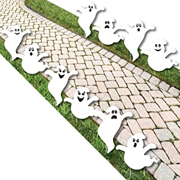 Spooky Ghost - Ghost Shape Lawn Decoration Signs - Outdoor Halloween Yard  Decorations - 10 Piece - Amazon.com: Spooky Ghost - Ghost Shape Lawn Decoration Signs