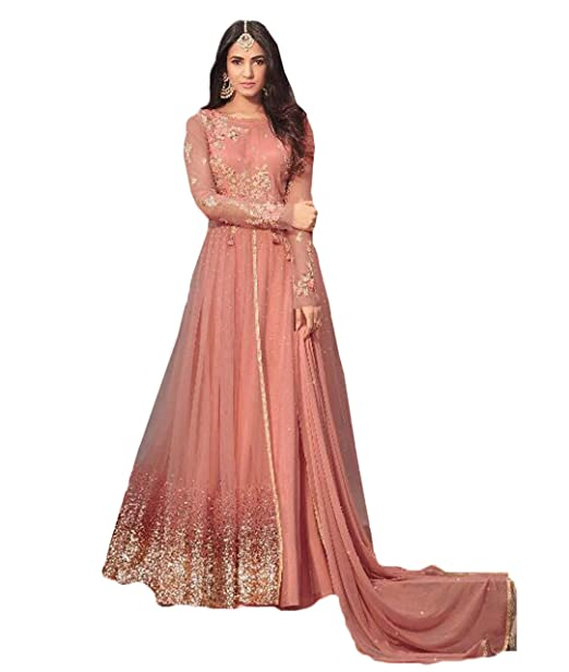 45854fdbb7 cloudbox Stylish Women's Net Sequence Embroidery Anarkali Suits (Pink Color,Free  Size): Amazon.in: Clothing & Accessories