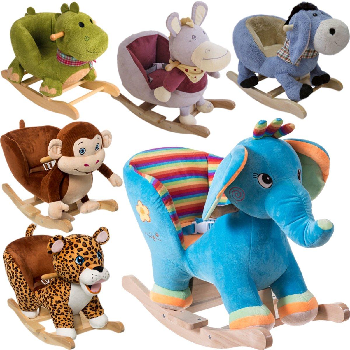 Holzspielzeug Schaukeltier Schaukelpferd Schaukelspielzeug Kinder Schaukel mehrere Auswahl DE