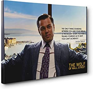 NATVVA Wall Art Wolf of Wallstreet Posters Canvas Art Painting Picture Printed Gifts Artist Home Decor Artwork for Living Room Wall Decoration No Frame