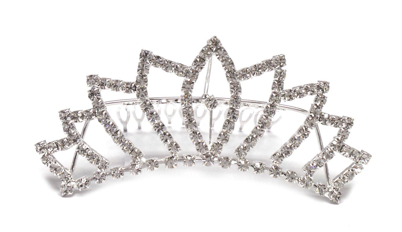 4751c78e4d56 Amazon.com  Bridal Wedding Veil Swarovski Crystal Crown Tiara T66  Health    Personal Care