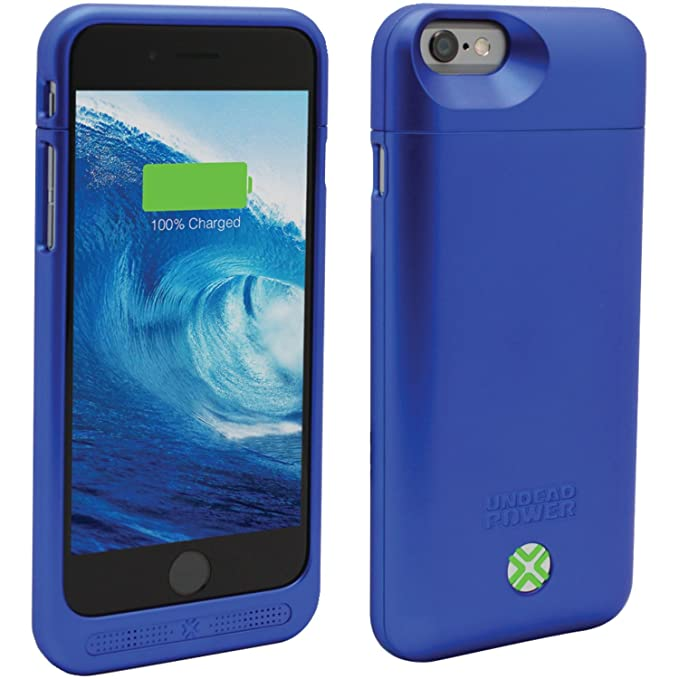 hot sale online 2ffc9 c89ef Lenmar iPhone 6s Battery Case - iPhone 6 Battery Case, Portable Charger  Case, iPhone Charger Case 3000mAh [MFI] Charging Case , BLUE