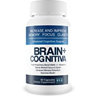 Brain+ Cognitiva - Advanced Cognitive Support - Help Increase and Improve Memory, Boost Mental Focus, and Support Mental Clarity - L-Glutamine Capsules for Brain Support and Opti Nootropic Boost