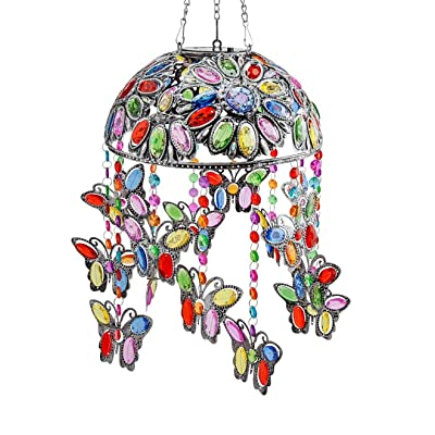 Wind & Weather Colorful Solar Butterfly Garden Light : Garden & Outdoor