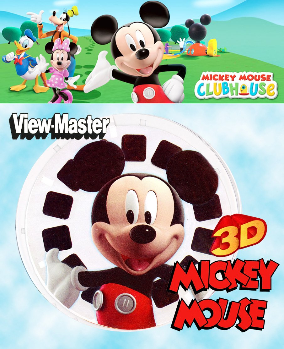ViewMaster Mickey Mouse Playhouse - 3 Reel Set - 21 3D Images by Dullko (Image #1)