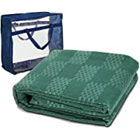 4 x 2.5m Camping Picnic Mat WEISSHORN Annex Matting Ground Floor Mat with Carry Bag for Camping Hiking Climbing Caravan Parks,Green