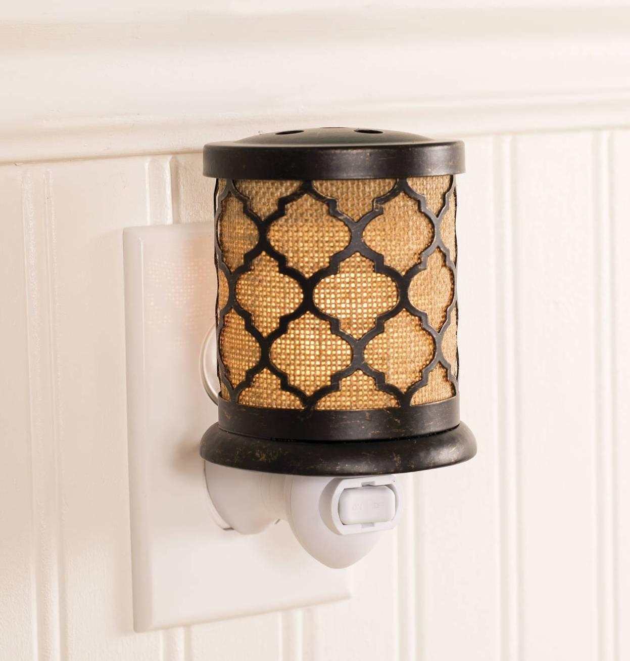 Wax Warmer ElectricタルトWarmerプラグin Pluggable Home Fragrance Diffuser (モロッコ黄麻布) B01I5MF036