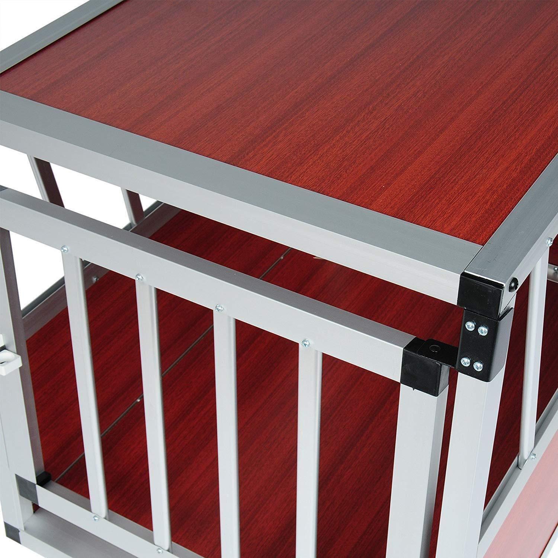 Generic ** Crate Crate Car Crate Car Travel Carrier rier Lockab Pet House Lockable Ke Dog Cage Transport Kennel P Lockable Kennel