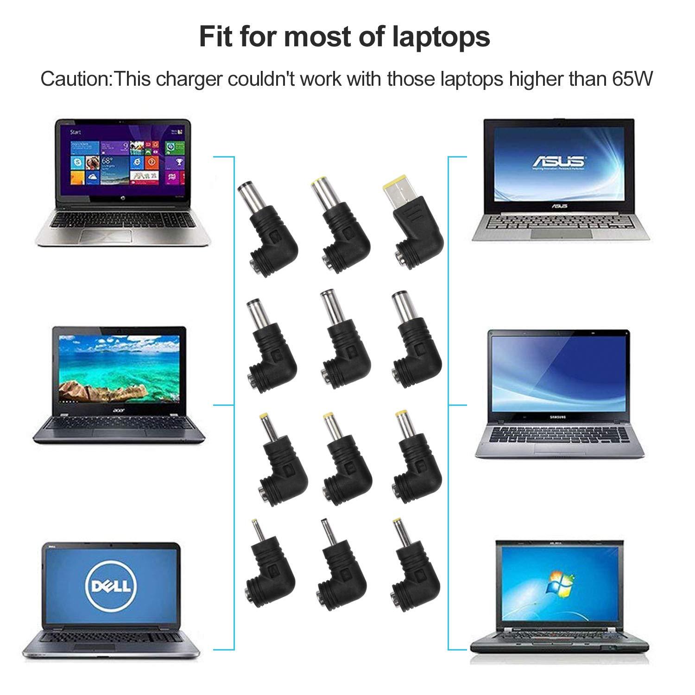 Amazon.com: Cargador de portátil universal adaptador de ...