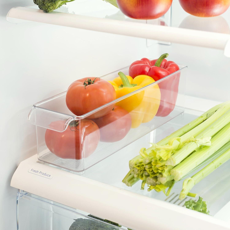 Home Basics Clear Plastic Heavy Duty Fridge Bin Small Bin