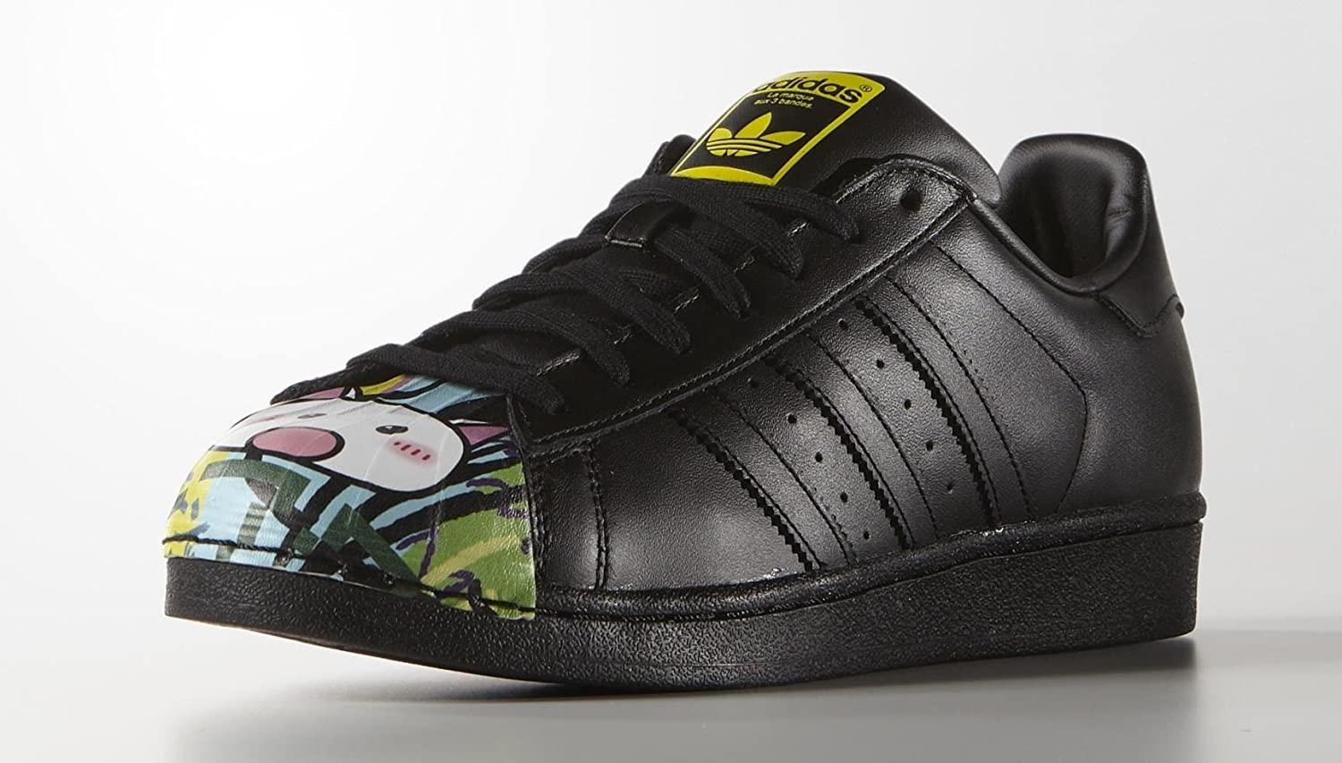 new arrivals 609b6 0e552 adidas Superstar Pharrell Williams Supershell Shoes (12, Black Yellow Green  (s83358))  Amazon.co.uk  Shoes   Bags