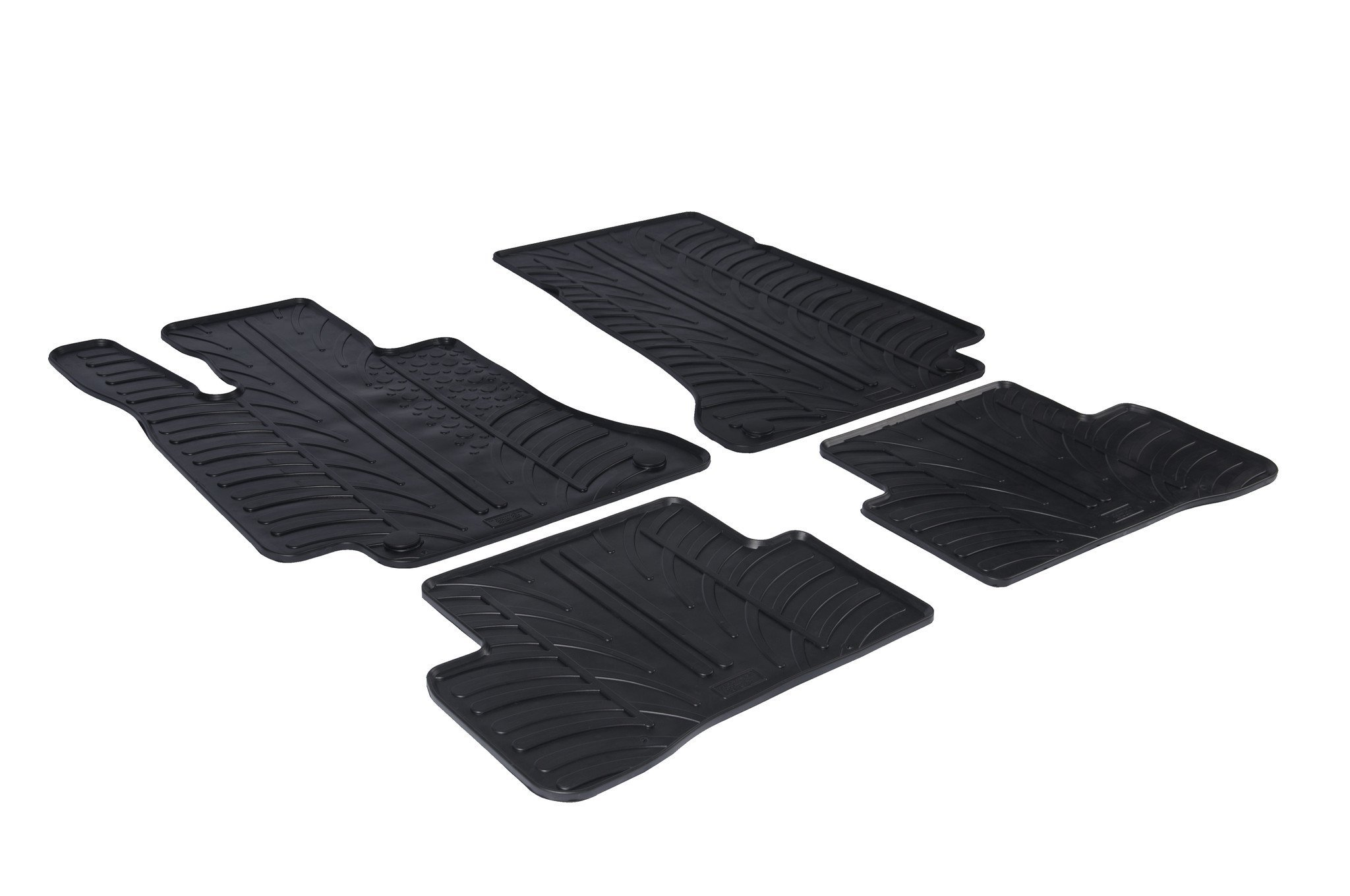 Gledring RHD 0224 Front Rear Car Floor Mat Set 4 Pieces Tailored Rubber Black