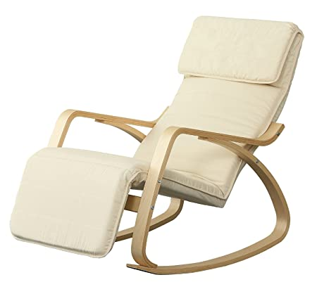 Orolay Comfortable Relax Rocking Chair Recliner White