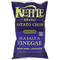 Kettle Chips Sea Salt and Vinegar Chips, 220 Gram